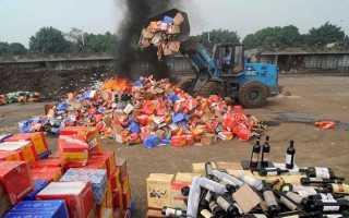 Что такое таможенная процедура уничтожения