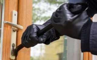 Кража со взломом: по каким статьям УК РФ определяется и назначается наказание