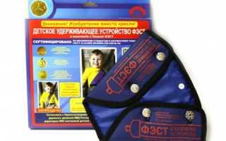 Детское удерживающее устройство ФЭСТ: принцип действия