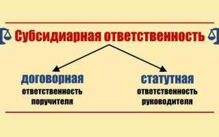 Заявление о привлечении к субсидиарной ответственности в деле о банкротстве